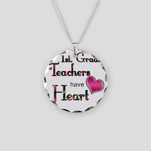 Teachers Have Heart 1 Necklace Circle Charm