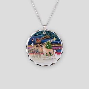 Xmas Magic - Great Danes (TW Necklace Circle Charm