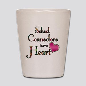 Teachers Have Heart counselors Shot Glass