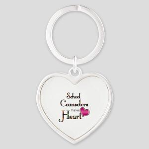 Teachers Have Heart counselors Heart Keychain