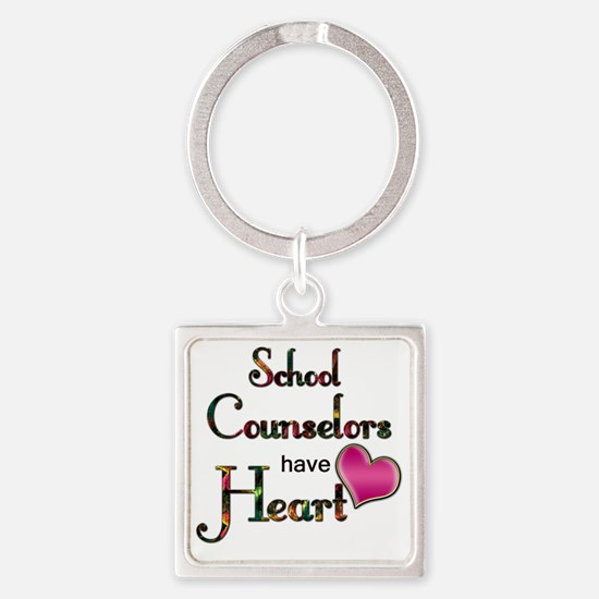 Teachers Have Heart counselors Square Keychain