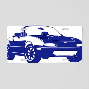 NA blue Aluminum License Plate