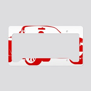 2-NB red License Plate Holder