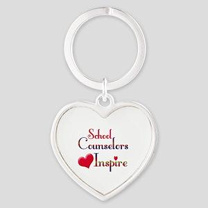 Teachers Inspire counselors Heart Keychain