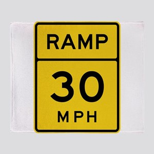 Ramp 30 MPH Sign Throw Blanket