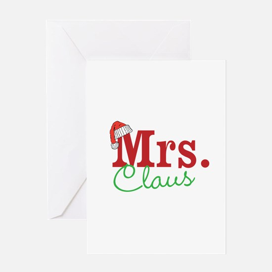 Christmas Mrs personalizable Greeting Cards