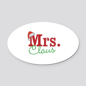 Christmas Mrs personalizable Oval Car Magnet