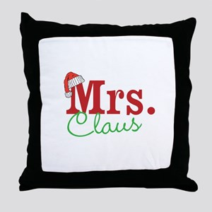 Christmas Mrs personalizable Throw Pillow