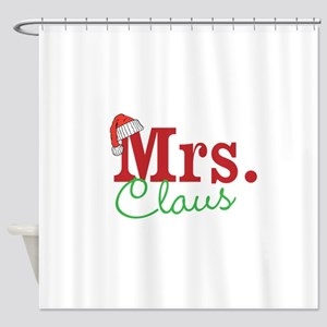 Christmas Mrs personalizable Shower Curtain