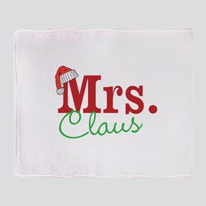 Christmas Mrs personalizable Throw Blanket