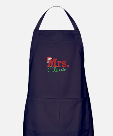 Christmas Mrs personalizable Apron (dark)
