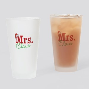 Christmas Mrs personalizable Drinking Glass