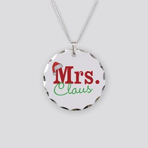 Christmas Mrs personalizable Necklace Circle Charm