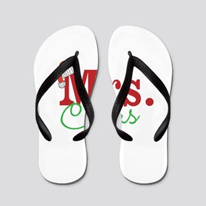 Christmas Mrs personalizable Flip Flops