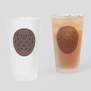 Manhole Cover Drinking Glass