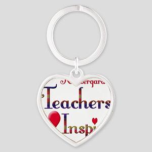 Teachers Inspire Kindergarden Heart Keychain