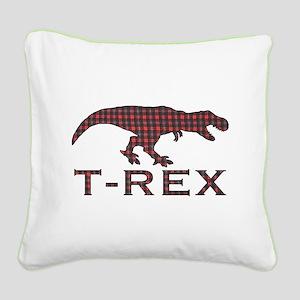 T Rex Square Canvas Pillow