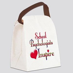 Teachers Inspire Psychologist  Canvas Lunch Bag