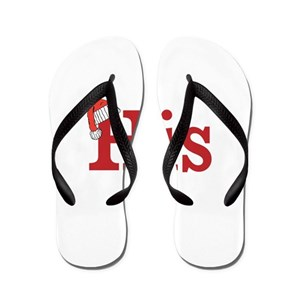 72f151ea1919f4 Mr And Mrs Flip Flops - CafePress