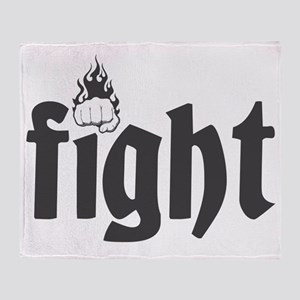 fight6 Throw Blanket