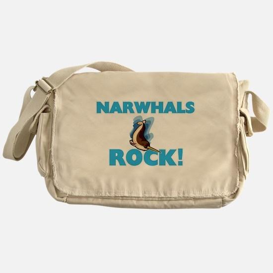 Narwhals rock! Messenger Bag