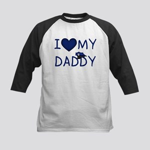 I Love My Police Daddy Baseball Jersey