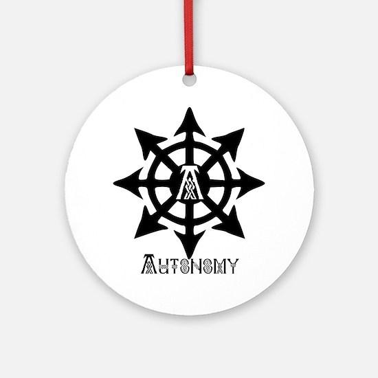 chaos autonomy celtic Round Ornament