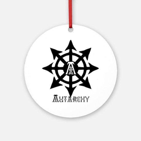 chaos autarchy celtic Round Ornament