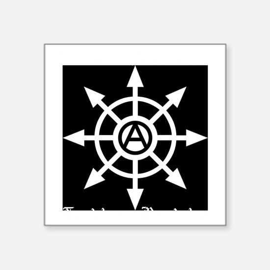 "NA trad&revol chaos BLACKSH Square Sticker 3"" x 3"""
