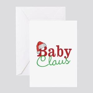 Christmas Baby Claus Greeting Cards
