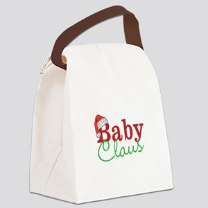 Christmas Baby Claus Canvas Lunch Bag