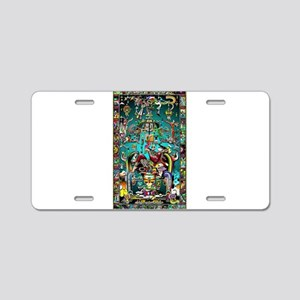 Lord Pacal the Rocket Man Aluminum License Plate