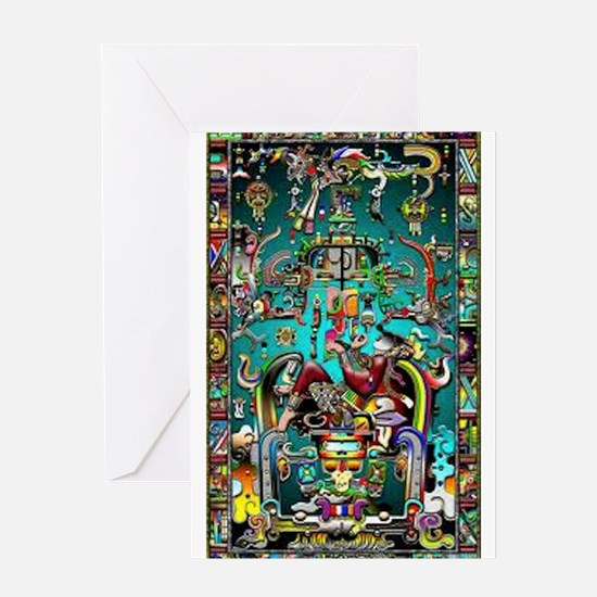 Lord Pacal the Rocket Man Greeting Cards