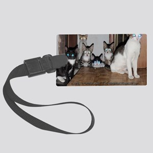 whiskers syndicate4 Large Luggage Tag