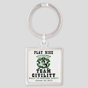 green team civility copy Square Keychain