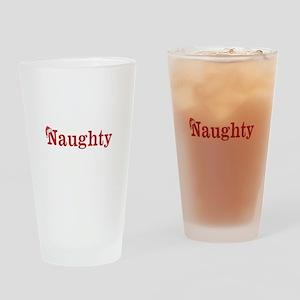 Half of Naughty and Nice set Drinking Glass
