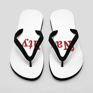Half of Naughty and Nice set Flip Flops