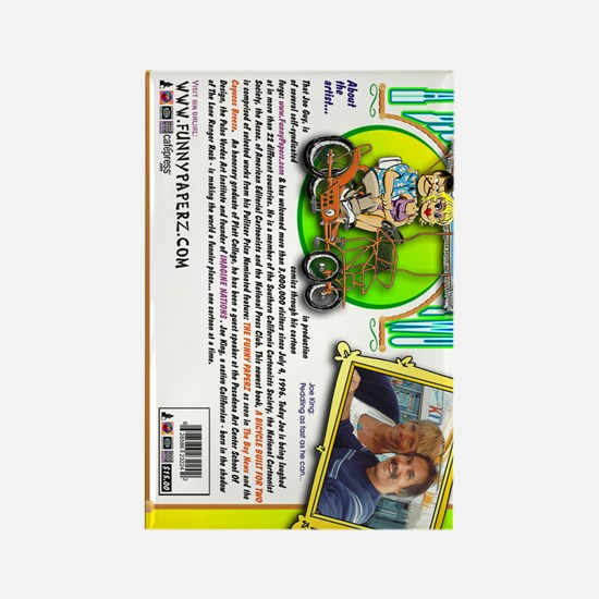 bicycle-book-back-vert Rectangle Magnet