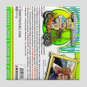 bicycle-book-back-vert Tile Coaster