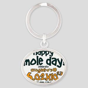 happy mole day Oval Keychain
