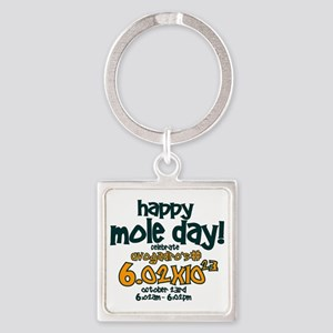 happy mole day Square Keychain