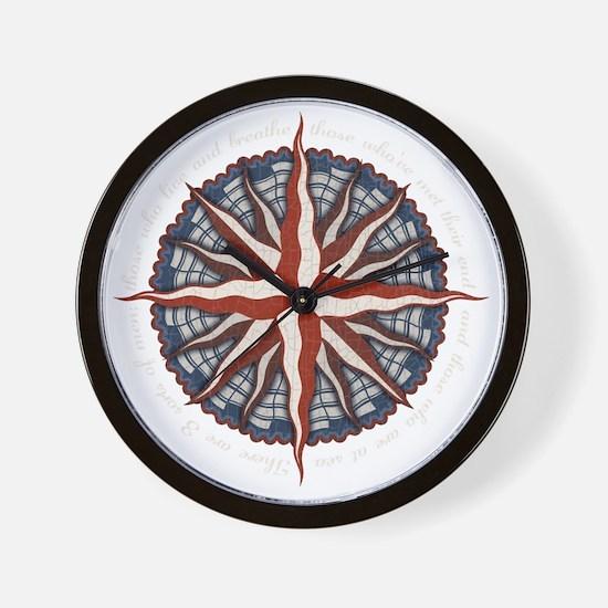 compass-rose4-DKT Wall Clock