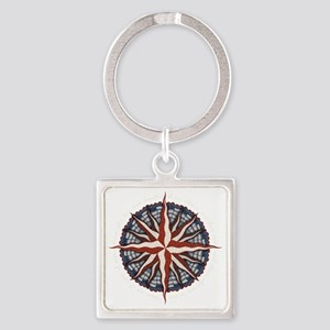 compass-rose4-DKT Square Keychain