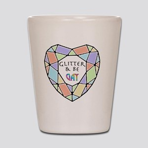 Glitter and Be2 Shot Glass