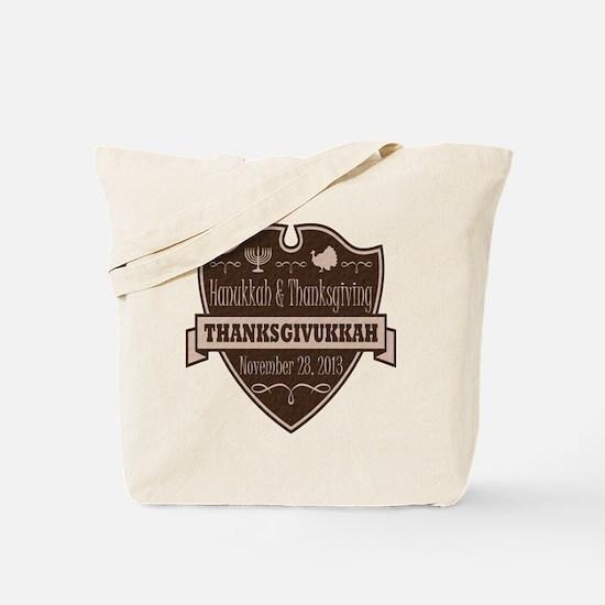 Brown Thanksgivukkah Tote Bag