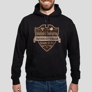 Brown Thanksgivukkah Hoodie (dark)