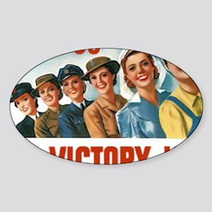 Join Us in a Victory Job Sticker (Oval)