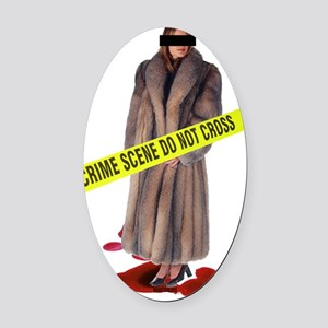 crime scene.2 Oval Car Magnet