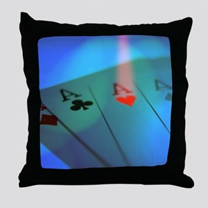 Four Aces -- Winning Hand Throw Pillow