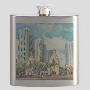 Santa Fe Depot Flask